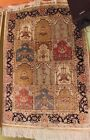 Elegant Hand Knotted Sign 100% Silk Persian QOM 2.1X3.1FT Rug G195