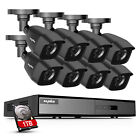 SANNCE 1080P HDMI HD-TVI 8CH / 4CH DVR IR CUT CCTV Security Camera System 1TB US