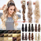 Hot Jaw/Claw Ponytail Clip in Pony tail Hair Extensions Natural Brown Blonde T34
