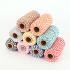 1 roll 100M 2mm cotton bakers twine string rustic country craft 9colors Useful