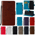 Flip Magnetic Butterfly PU Leather Wallet Stand Case For iPhone Samsung Huawei