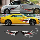 "59"" Full Size Shark Mouth Teeth Flying Tiger Die-Cut Vinyl Decal Sticker Car A B"