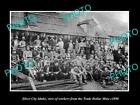 OLD LARGE HISTORIC PHOTO OF SILVER CITY IDAHO, TRADE DOLLAR MINE WORKERS c1890
