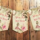 Alice in Wonderland We're All Mad Here Bunting, Tea Party Decoration, Banner