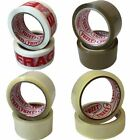 36 Rolls Yuzet PACKING TAPE brown clear fragile printed buff sealing box carton
