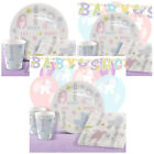Tiny Feet Baby Shower Party Pack Tableware Kits - For 8 or 16 Guests