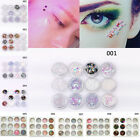 12 Pots/for Flake Chunky Glitter Nail Face Eye Shadow Tattoo Festival Body Dance