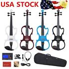 ammoon Full Size 4/4 Solid Wood Silent Electric Violin Body Christams Gift M6M8