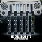 "8"" LED Grille Flash Light Single Row Grill Lamps Kit Fit 07-17 Jeep Wrangler JK"