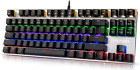 Gaming Mechanical Keyboard Led Backlit - Hcman USB Wired Computer Gaming Keyboar