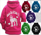 HORSE RIDING HOODIE Children & Adult GOB ON A COB SPARKLY GLITTER FUNNY QUOTE