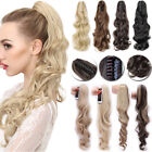 Real Natural Jaw Clip In Hair Extensions Claw On Thick Ponytail Fake Hair TW5
