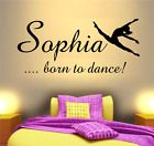 Personalised Name Dance Quote Wall Art Decal Sticker Girls Bedroom Home Decor