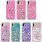 iPhone X Case Waterfall Floating Moving Glitter Hearts Liquid Quicksand Pink New