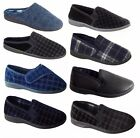 Mens Warm Moccasins Slippers Mules Slip On Shoes Winter Summer Sizes 6-14