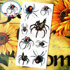 Chic Waterproof Tattoo Stickers 3D Color Spider Insect Temporary Tattoo Sticker