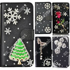 Rhinestone Case Covers Crystal Diamond Wallet PU Leather Flip Cover for HTC