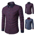 2018 Stylish Mens Long Sleeve Luxury Slim Fit Dress Shirt Casual Formal T-Shirts