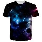 Nebula Galaxy Space 3d Printed Womens Mens Crew Graphic T-Shirts Casual Tee Tops