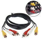 3FT Cable Cord Composite 1m For DVD HDTV 3 RCA To 3 RCA Video Male To Male AV