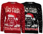 Kids Girls Boy Knitted Xmas Star Wars Vintage Darth Vader Novelty Jumper Sweater