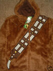 Star Wars Chewbacca Chewie Costume Zip up Hoodie Fake Fur Jacket Shirt $55.0 USD