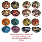 Handmade Turkish Moroccan Mosaic Nibbles Olives Fruits Bread Peanuts Food Bowls