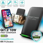 Qi Fast Wireless Charger Charging Dock Pad for iPhone XS Samsung Galaxy S10 Fold