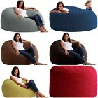3 4 or 5 size Fuf Comfort Suede Bean Bag Chair adult kids dorm colors foam NEW