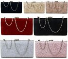 LADIES HARDCASE LACE MESH FLORAL PROM PARTY EVENING BRIDAL OCCASION CLUTCH BAG