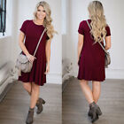 Fashion Summer Women Dress Short Sleeve Party Evening Cocktail Casual Dresses