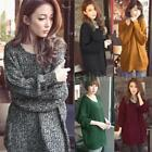 Fashion Women Lady Casual Pullover Long Sleeve Thin Tops Coat Knitwear New D3E2