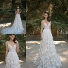 Wedding Gown Sexy Bridal Dress Applique Lace Long Train wedding dress