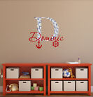 Name Wall Decal Initial Full Color Sticker Nautical Baby Boy Nursery Kids ba36
