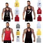 Hot Men Muscle Printed Sleeveless Tank Tops Gym Bodybuilding Singlet Sport Vest