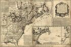 Poster, Many Sizes; Map Of North America Pre United States 1757 P10