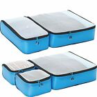 eBags Ultralight Packing Cubes Super Packer 5pc Set Blue Luggage Travel