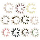 12 x 3D False French Nail Art Tips Pre-design Black White Leopard Lace Pink