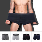 Mens Soft Oversized Boxer Cotton Underwear Summer Bikini Pouch Shorts Underpants