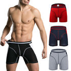 Mens Boxer Briefs Underwear Stretch Fashion Trunk Sport exercise Shorts M - 3XL