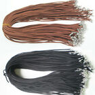 10pcs Black Brown Suede Leather String Necklace Cord Chain Jewelry Making Diy