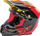 FLY RACING Offroad MTB BMX 2016 F2 CARBON Pure Helmet (Yllw/Blk/Red) Choose Size