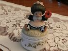 ENESCO THE POPPYSEED COLLECTION 1983 BARBI SARGENT VINTAGE TRINKET BOX  E3206