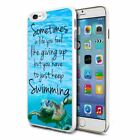 For Various Phones Design Hard Back Case Cover Skin - Just Keep Swimming