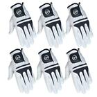 SG White full Cabretta Leather Men golf gloves Multi quantity buy pack available