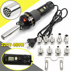 450W 220V Durable LCD Display easy Hot Air Heat Gun Soldering Station + 9XNozzle