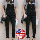USA Women Slim Denim Jeans BIB Pants Overalls Straps Jumpsui