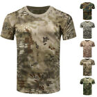 MENS MILITARY TACTICAL CAMOUFLAGE CAMO T SHIRT ARMY COMBAT NEW HUNTING TOPS HOT