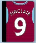 IPAD + AIR MINI FOLDING CASE COVER STAND Personalised ASTON VILLA FOOTBALL style