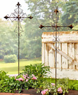 Outdoor Garden Stakes Tall Cross Metal Religious Yard Decorations Beautiful 4 FT